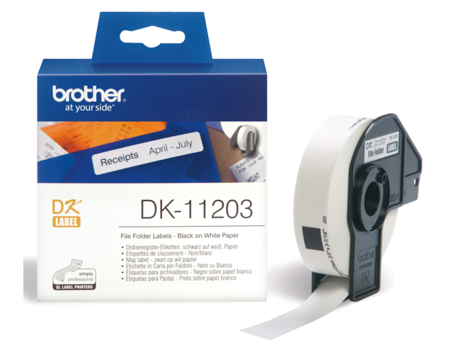 Etiket brother dk-11203 87x17mm archivering 300stuks