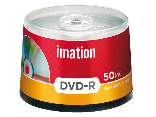 Dvd-r imation 16x4.7gb spindel 50stuks
