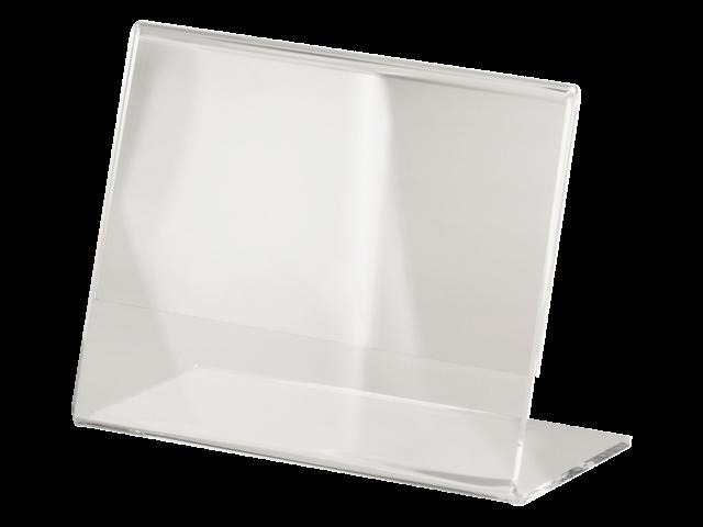 TAFELSTANDAARD SIGEL A7 SCHUIN GLASHELDER