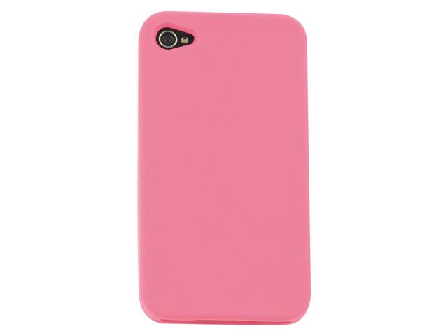 Telefoonhoes dresz silicone iphone 4/4s roze