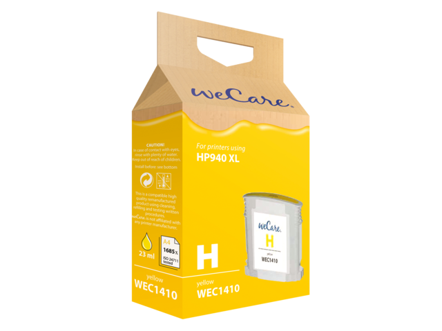 Inkcartridge wecare hp c4909ae 940xl geel hc