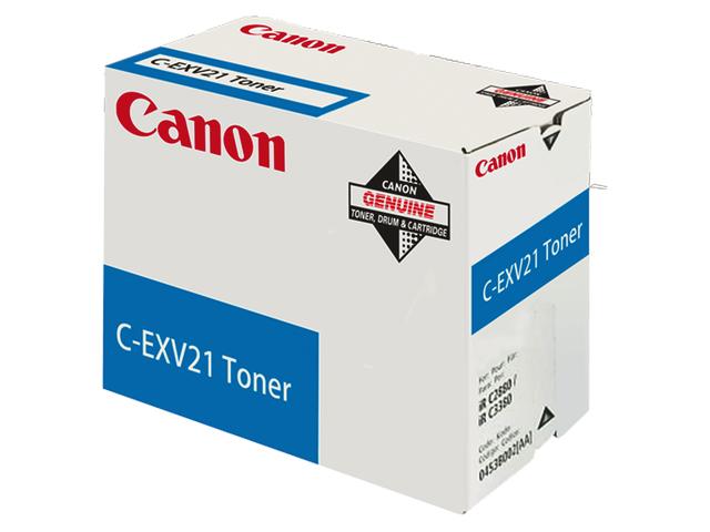 Tonercartridge canon c-exv21c blauw