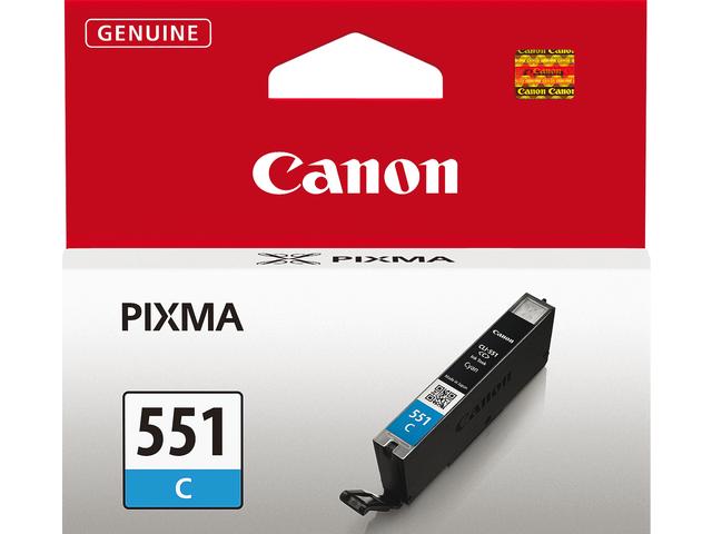 Inkcartridge canon cli-551c blauw