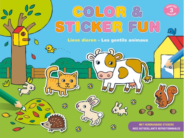 Stickerboek deltas color and sticker fun lieve dieren