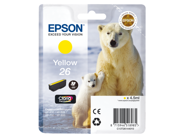 Inkcartridge epson t261440 geel