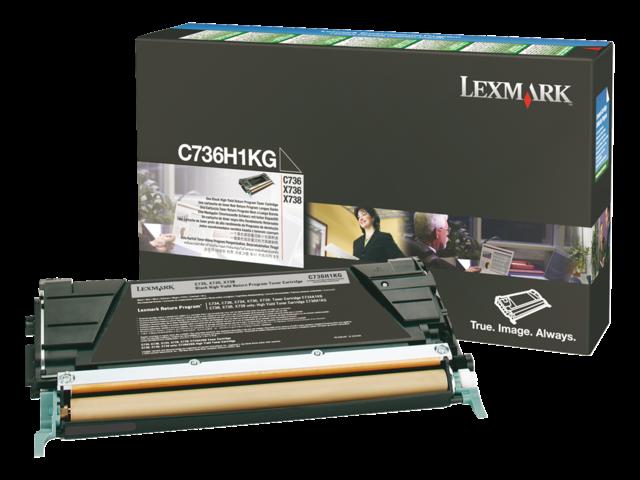 Tonercartridge lexmark c736h1kg prebate zwart