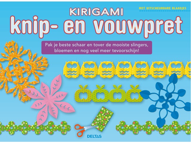Vouwset deltas kirigami knip en vouwpret