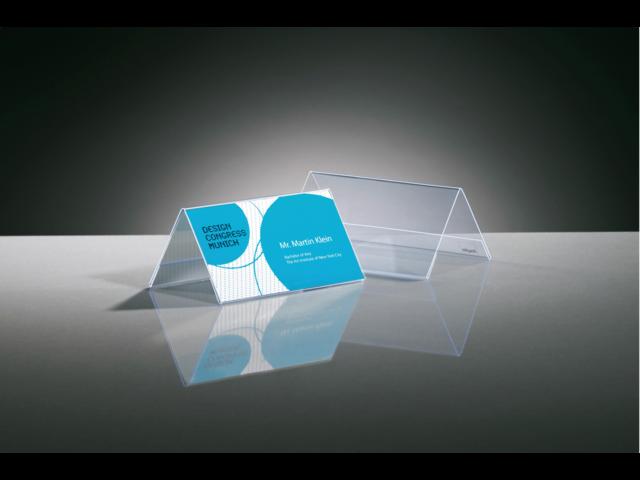 Tafelnaambord sigel ta136 100x60mm 2-zijdig transparant