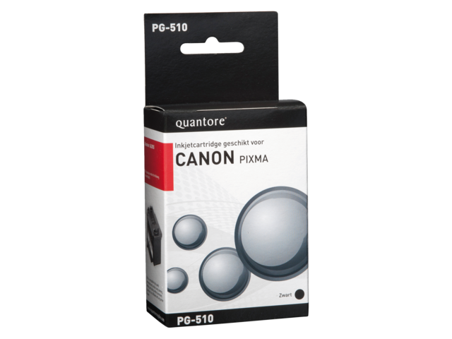 Inkcartridge quantore canon pg-510 zwart + chip