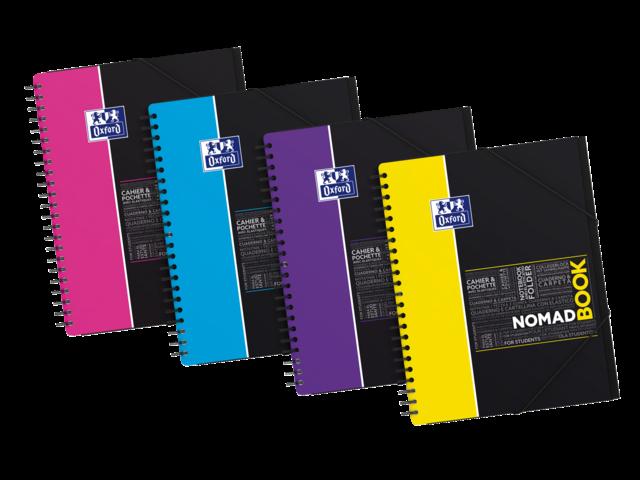 Spiraalblok oxford notes nomadboek a4 4-gaats gelinieerd ass