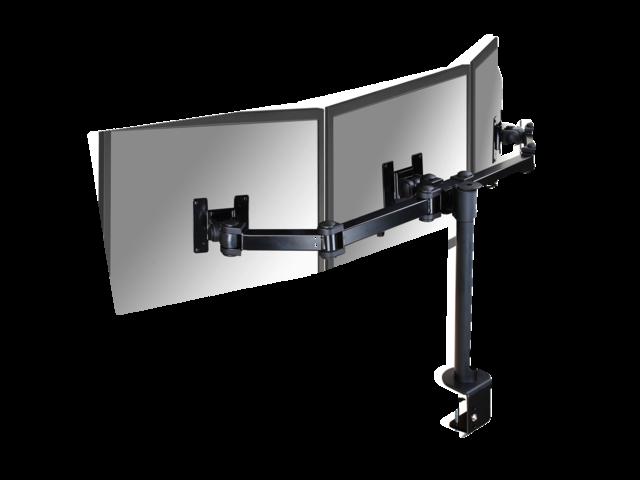 Flatscreenarm newstar d960d3 3 schermen met klem zwart