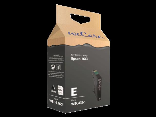 Inkcartridge wecare epson t163140 zwart hc