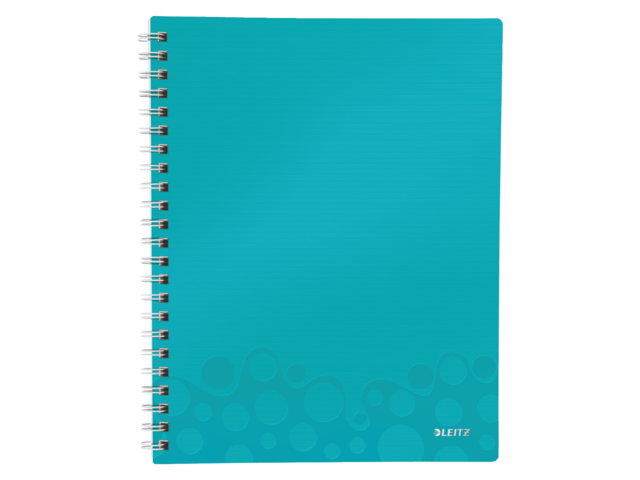 Notitieboek leitz wow get organised a4 pp ijsblauw