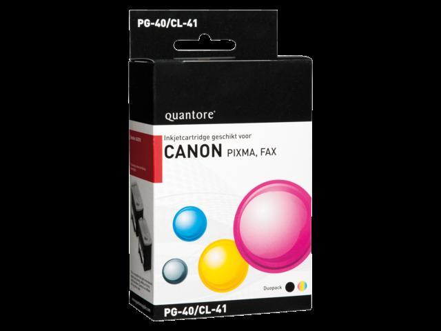 Inkcartridge quantore canon pg-40 cl-41 zwart + kleur