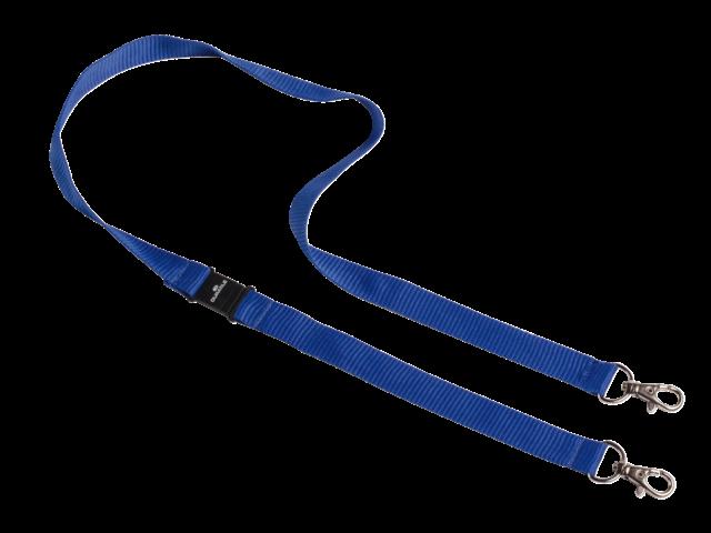 Textielkoord durable 8526 met 2 karabijnhaken blauw