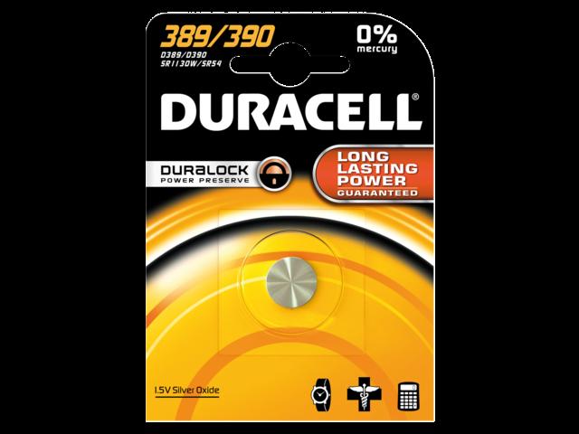Batterij duracell knoopcel 389 390 zilver oxide