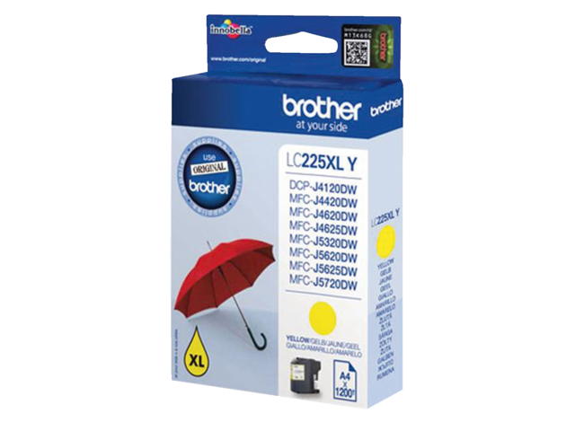 Inkcartridge brother lc-225xly geel hc