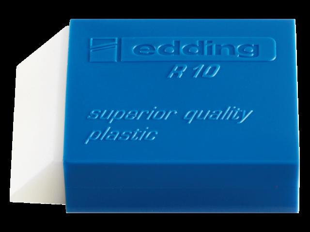 Gum edding r10 kunststof 53x34x13mm wit met blauwe houder