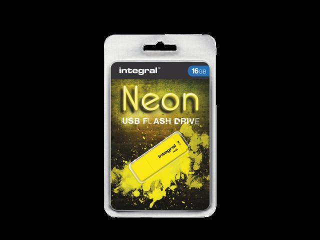 USB-STICK INTEGRAL FD 16GB NEON GEEL