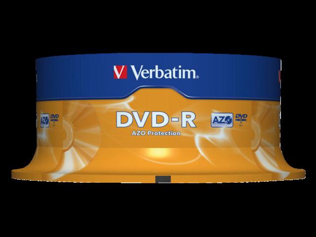 DVD-R VERBATIM 4.7GB 16X 25PK SPINDEL