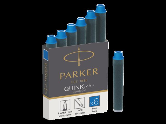 Inktpatroon parker quink mini tbv parker esprit blauw