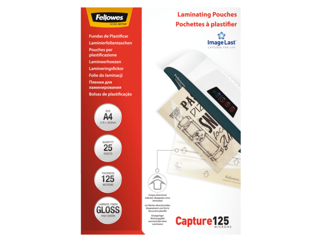 LAMINEERHOES FELLOWES A4 2X125MICRON