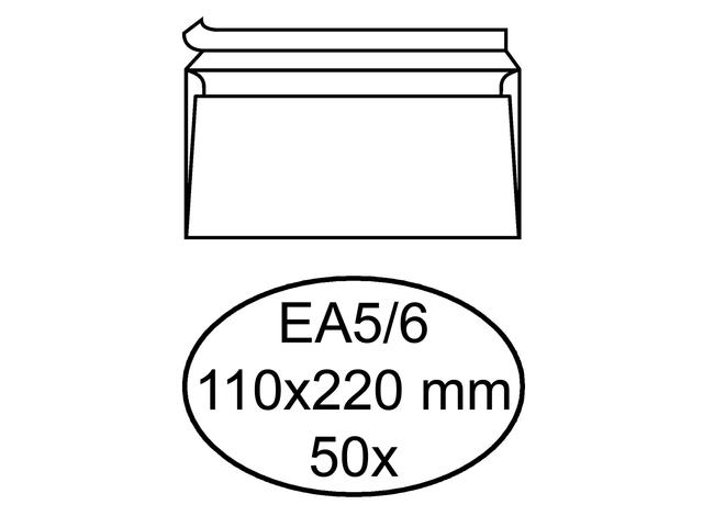 Envelop quantore excellent ea5/6 110x220mm zelfklevend 50st.