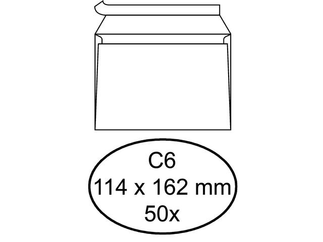 Envelop bank c6 114x162mm zelfklevend wit 50stuks