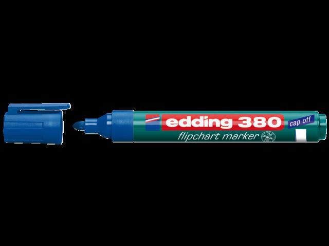 Viltstift edding 380 flipover rond blauw 2mm