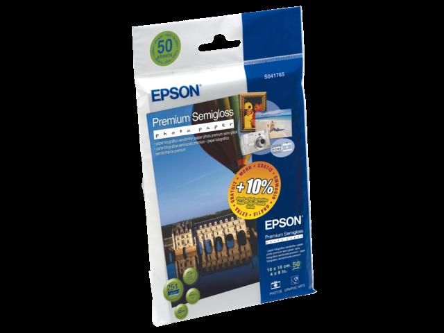 Inkjetpapier epson so41765 10x15cm 215gr semi gloss 50vel