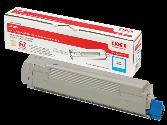 Oki kleurenlaserprintersupplies C8000 serie