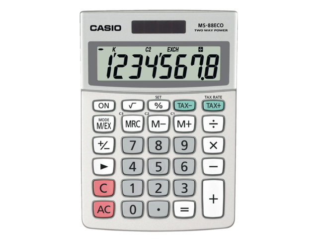 REKENMACHINE CASIO MS-88ECO