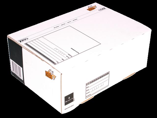 Postpakketbox 4 cleverpack 305x215x110mm wit 5stuks
