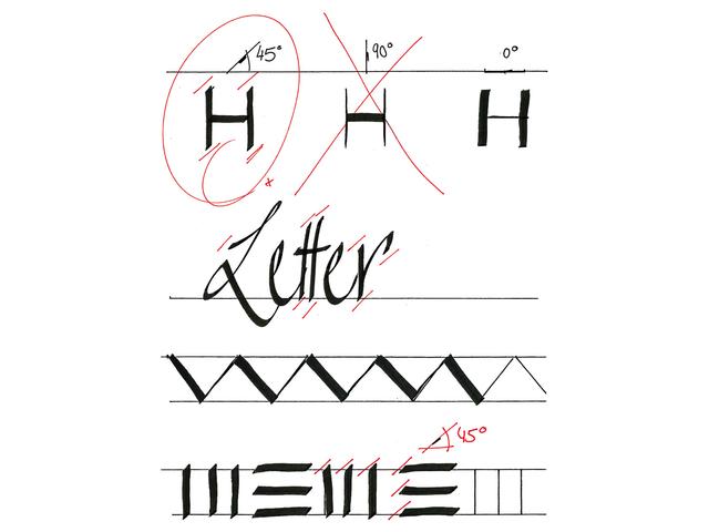 Kalligrafiepen edding 1255 zwart 5.0mm