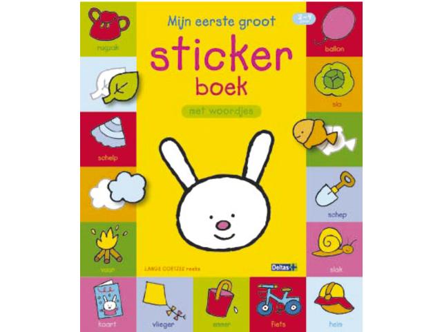 Stickerboek deltas lange oortjes 2-4 jaar