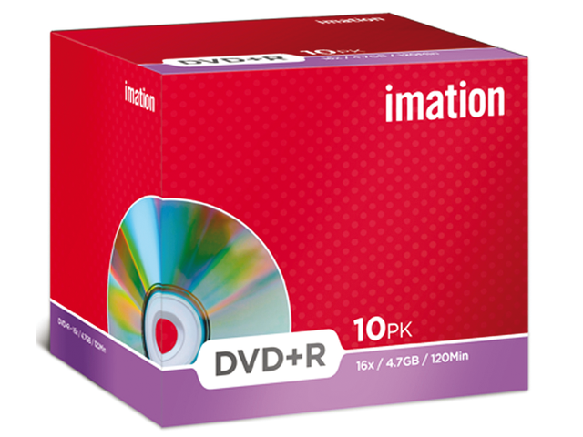 Dvd+r imation 16x 4.7gb jewelcase
