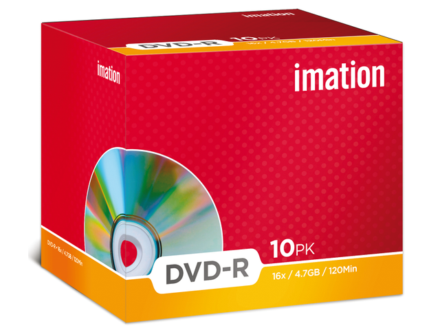 Dvd-r imation 16x4.7gb jewelcase 10stuks