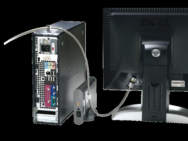 Beveiligingsset kensington desktop + pc microsaver zwart