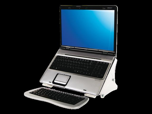 Laptopstandaard quantore verstelbaar transparant