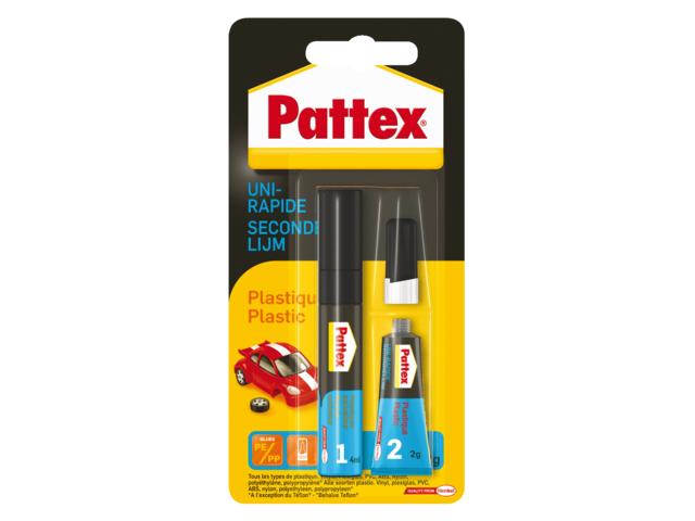 Secondelijm pattex all plastic tube 3gram op blister