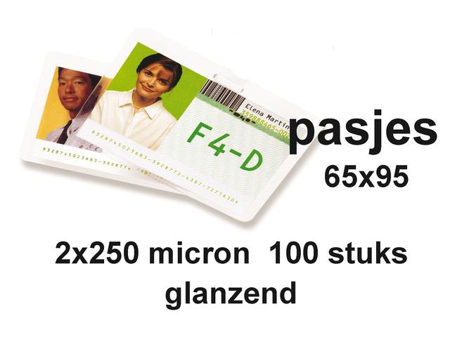 LAMINEERHOES GBC GOVERNM CARD 65X95MM 2X250MIC