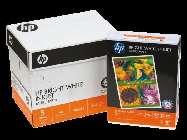 Inkjetpapier hp chp5977 a4 bright white 90gr wit 250vel
