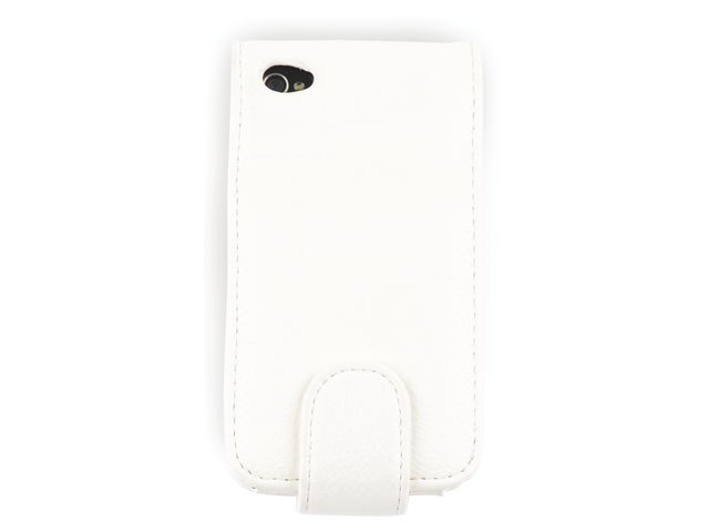 Telefoonhoes dresz flipcase iphone 4/4s wit