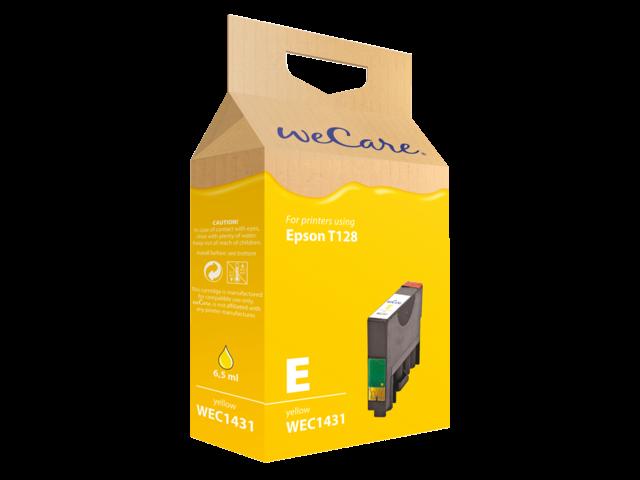 Inkcartridge wecare epson t128440 geel