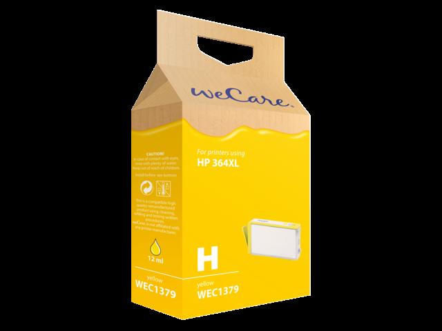 Inkcartridge wecare hp cb325ee 364xl geel hc