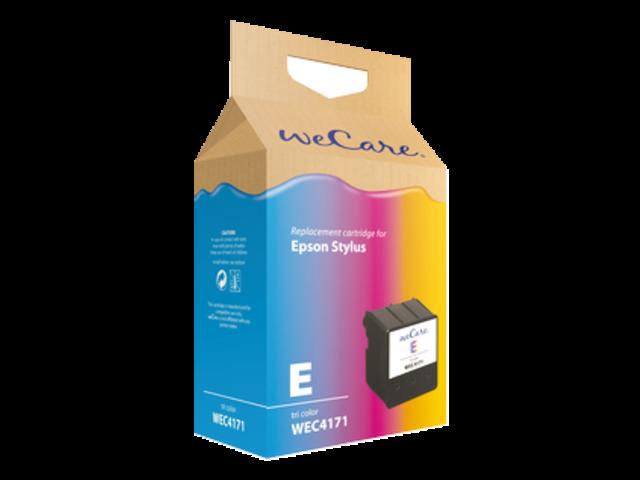 Inkcartridge wecare epson t037040 + chip kleur