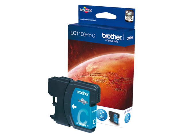 Inkcartridge brother lc-1100hyc blauw hc