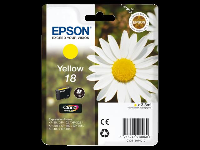 Inkcartridge epson t180440 geel