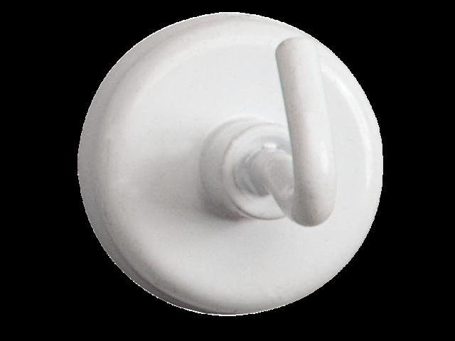 Magneet met haak maul 25mm draagkracht 3kg wit