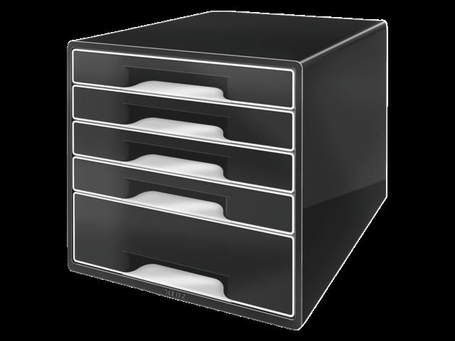 Informatie over ladenbox leitz 5253 cube 5 laden zwart van for Ladenblok rvs